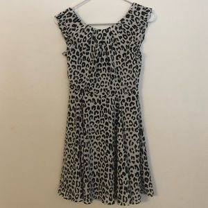 Express animal print lace back dress
